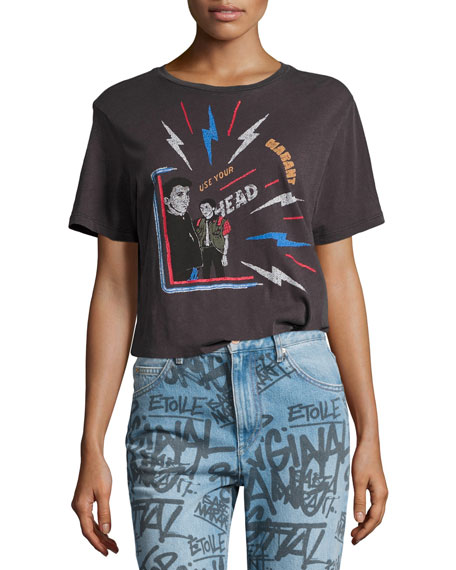 Etoile Isabel Marant Dewel Crew Neck Short-Sleeve Cotton