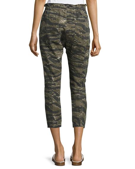 The Aviation Zip Camo Pants, Green Pattern