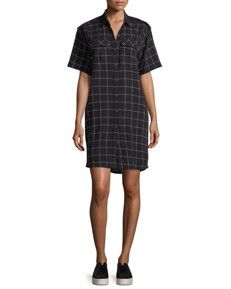 The Work-Wear Grind-Print Short-Sleeve Dress