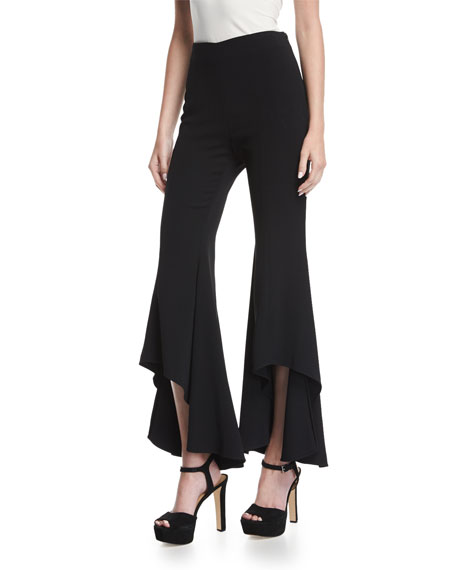 Alexis Jonah High-Waist High-Low Hem Crepe Pants and