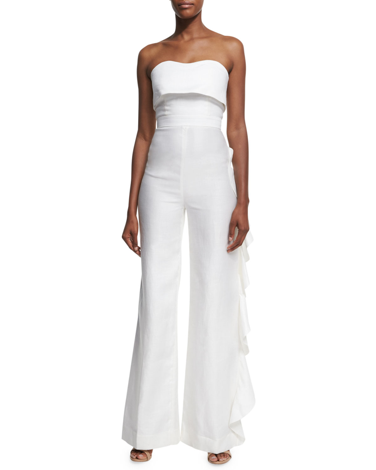 d49ff14b4bf0 Alexis Jara Strapless Overlay Jumpsuit