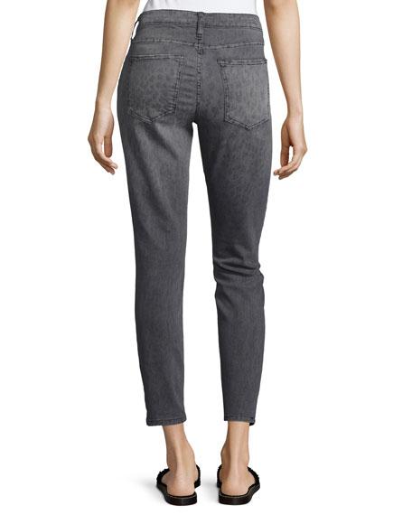 The Stiletto Gray Leopard Jeans