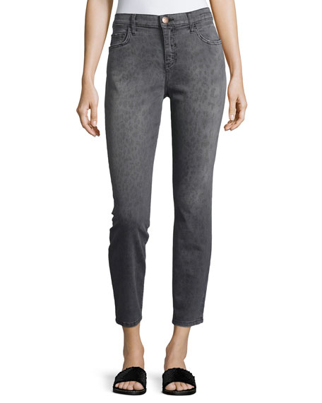 Current/Elliott The Stiletto Gray Leopard Jeans