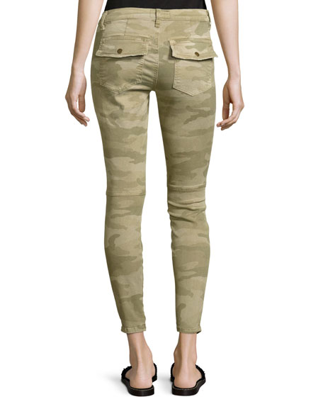 The Station Agent Camo Cropped Skinny Jeans