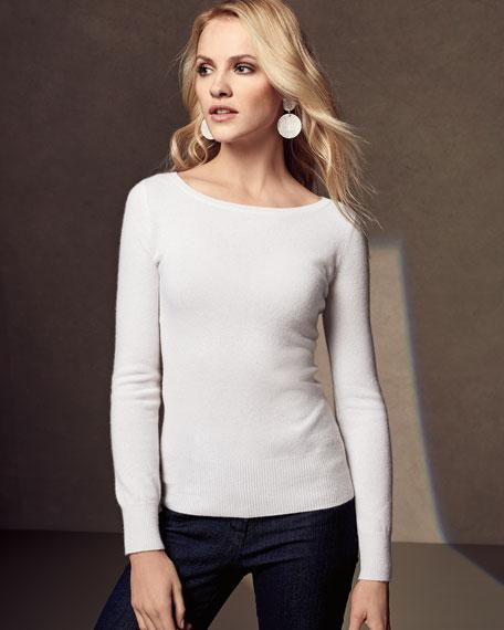 Classic Cashmere Bateau-Neck Sweater