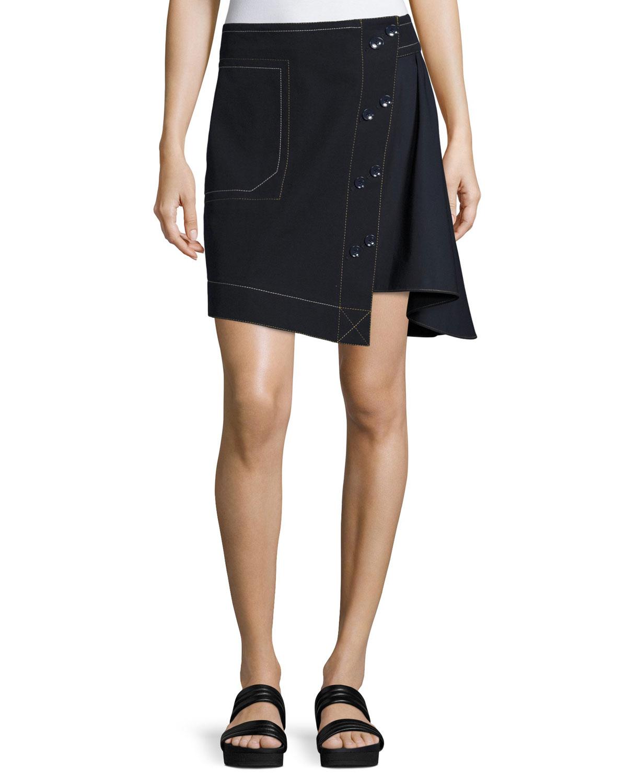 08268ae1285 Derek Lam 10 Crosby Asymmetric A-line Combo Skirt