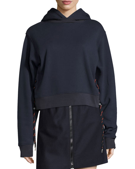 Acne Studios Bale Sweatshirt Hoodie with Shoelace Sides,