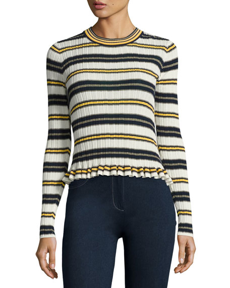 Derek Lam 10 Crosby Striped Crew Neck Combo