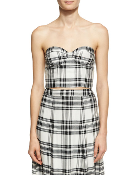 Alice + Olivia Athena Double Slit Plaid Maxi