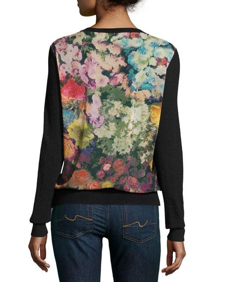 Neiman Marcus Cashmere Collection Superfine Cashmere Cardigan w/