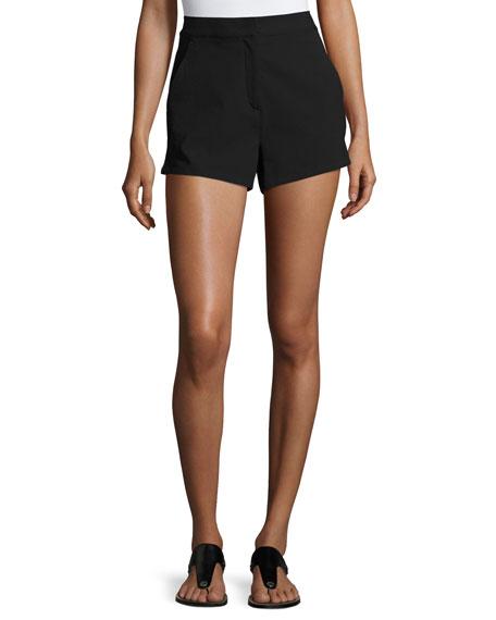 Rag & Bone Carson Crepe Shorts, Black