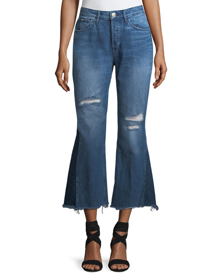 3x1 Higher Ground Gusset Flared Cropped Jeans