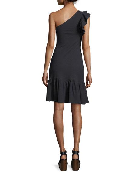 One-Shoulder Rib Jersey Dress