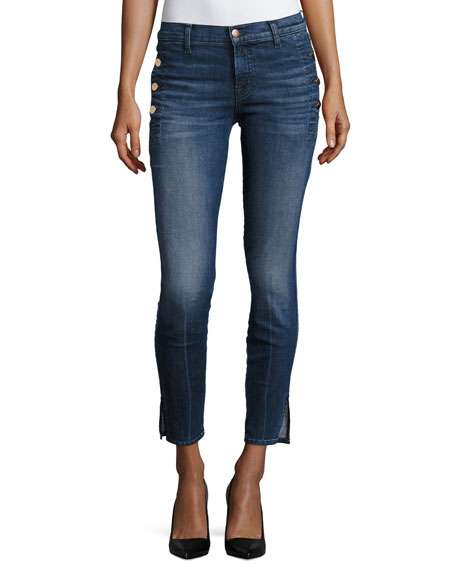 J Brand Zion Mid-Rise Skinny W/ Button Pockets,