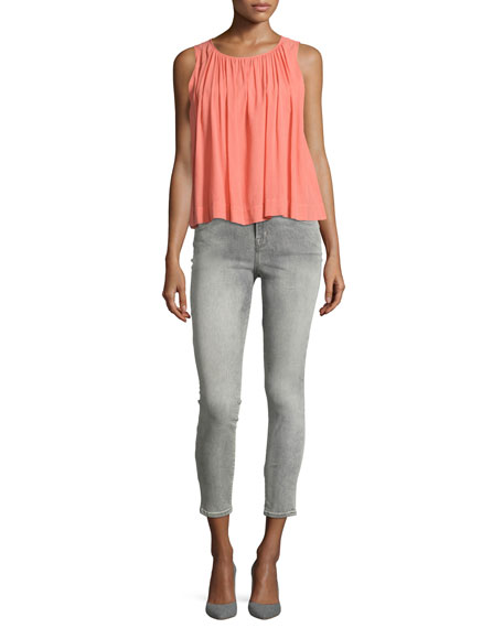 Alana High-Rise Cropped Skinny Jeans, Gray