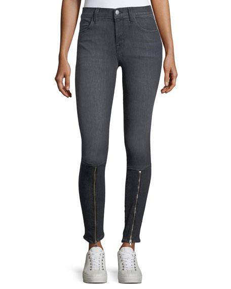J Brand 620 Mid-Rise Skinny Jeans w/ Zip