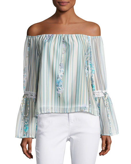 Spring Garden Off-the-Shoulder Top