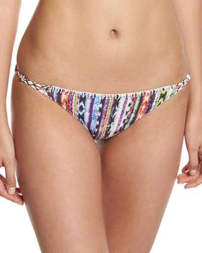 Beach Blanket Wrapped Cord California Swim Bottom, Multi