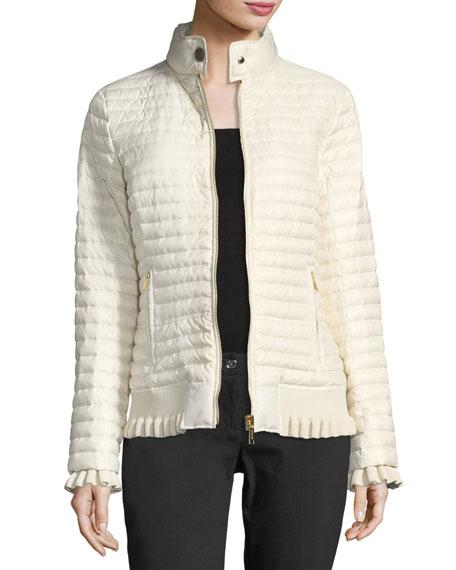 MICHAEL Michael Kors Ruffled Puffer Jacket
