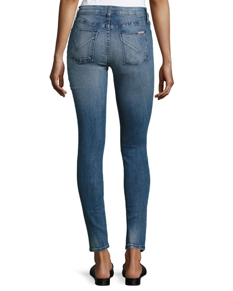 Nico Mid-Rise Ankle Super Skinny Jeans, Indigo