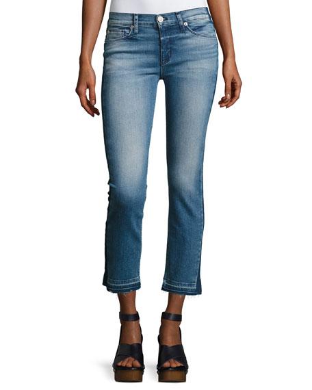 Tilda Mid-Rise Cigarette Crop Jeans, Indigo
