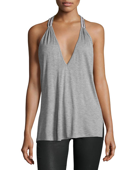 Haute Hippie The Rebel Two-Strap Tank Top, Light