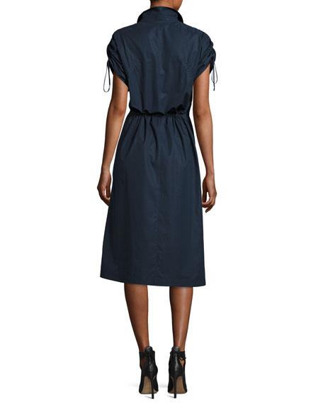 Snap-Front Cotton Poplin Shirtdress