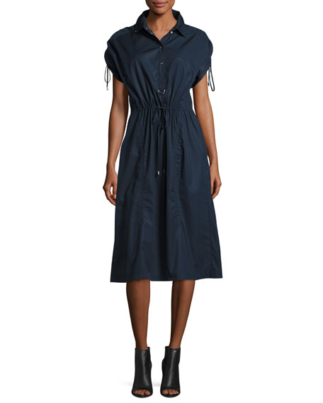 GREY by Jason Wu Snap-Front Cotton Poplin Shirtdress