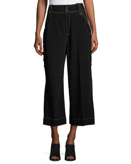 Derek Lam 10 Crosby Culotte Pants W/ Button