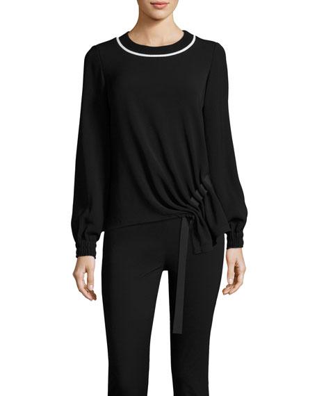 GREY Jason Wu Sweater w/ Asymmetric Grosgrain Ribbon