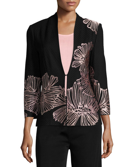 Petal Pop Jacket, Black/Pink, Plus Size