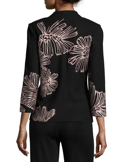 Petal Pop Jacket, Black/Pink