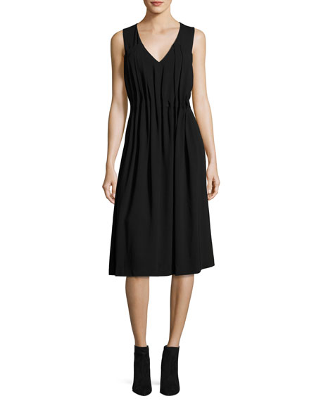 Jason Wu GREY Sleeveless Midi Dress w/ Gathered