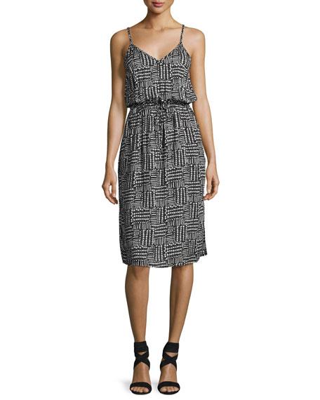 Splendid V-Neck Sleeveless Slip Midi Dress, Multi