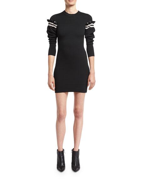3.1 Phillip Lim Sweater Dress W/ Ruffled Sleeve