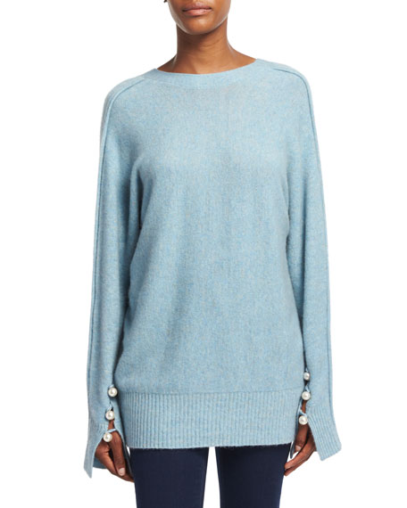 3.1 Phillip Lim Long-Sleeve V-Back Pullover Sweater, Light