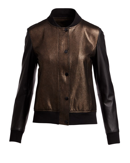 Sueded Leather Bomber Jacket