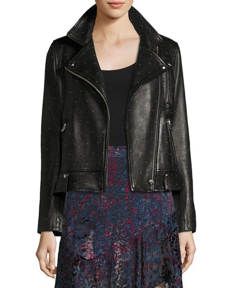 Iro Vamy Studded Leather Jacket, Black