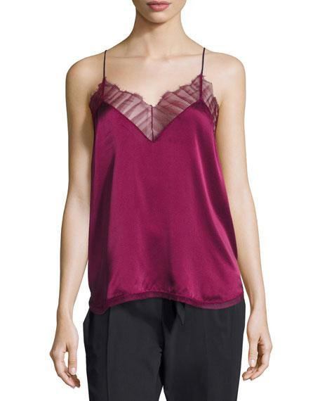 Iro Berwyn Silk Camisole Top, Red and Matching
