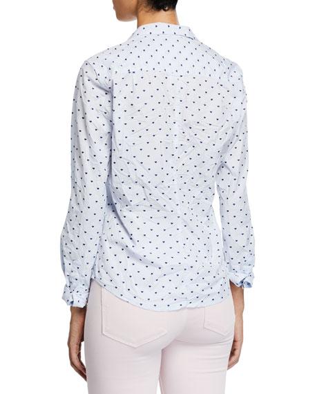 Barry Long-Sleeve Button-Down Shirt, Blue Pattern