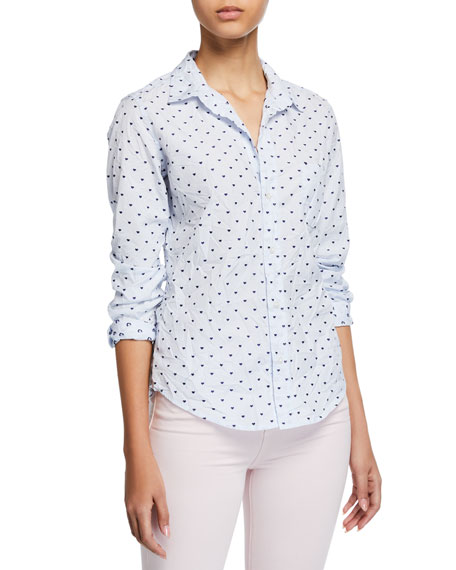 Frank & Eileen Barry Long-Sleeve Button-Down Shirt, Blue