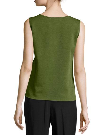 Wool Knit Basic Tank, Plus Size