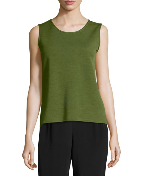Caroline Rose Wool Knit Basic Tank, Petite