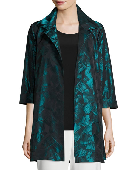 Caroline Rose Brushstroke Jacquard Party Jacket, Petite