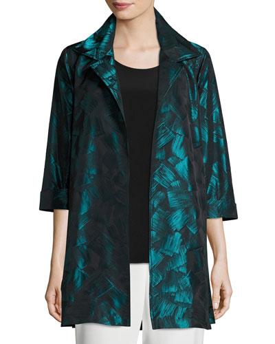 Brushstroke Jacquard Party Jacket, Plus Size