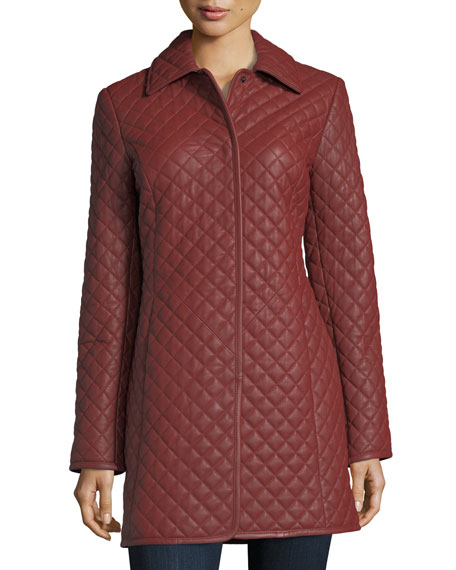 Quilted Leather Trenchcoat