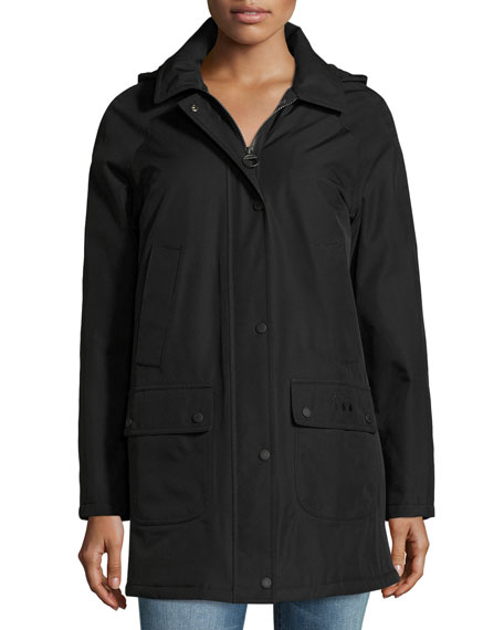 Barbour Whirl Water-Resistant Jacket, Black