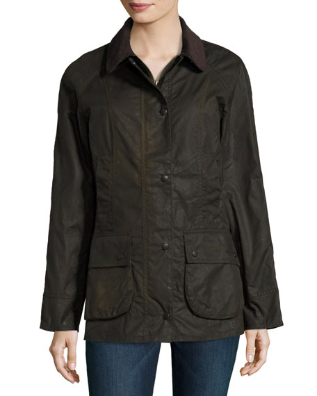Classic Beadnell Wax Utility Jacket, Olive