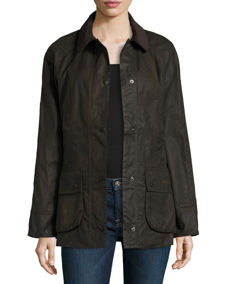 Barbour Classic Beadnell Wax Utility Jacket, Olive