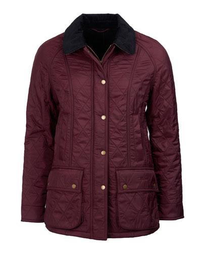 Beadnell Diamond Polar-Quilt Jacket, Navy